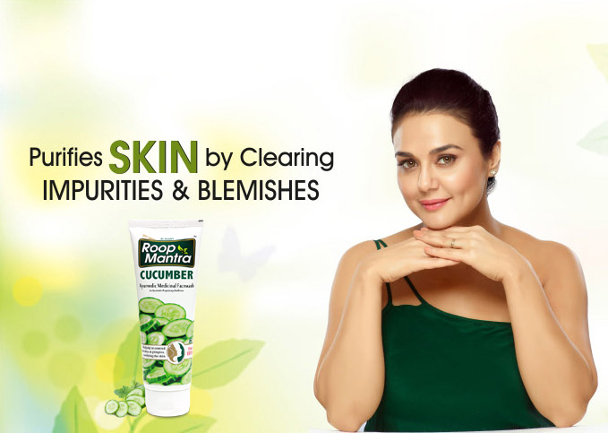 Purifies skin by Cucumber Face Wash-Roop Mantra