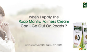 When I apply the Roop Mantra Fairness Cream can I go out on roads?