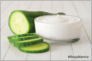 Cucumber-and-curd-face-pack