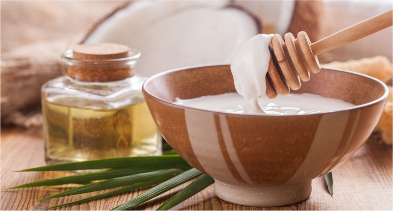 Coconut-Oil-is-used-to-get-smooth-skin-or-avoid-for-Dryness